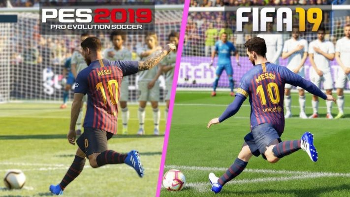 FIFA-19-vs-PES-2019-gameplay